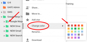 Visual of Google Drive Colors